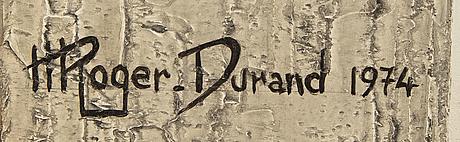 Henri roger-durand, olja på pannå, signerad och daterad 1974.