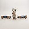 Lisa larson, a set of three figurines.