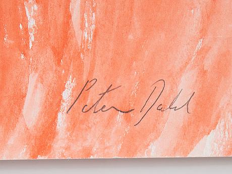 Peter dahl, watercolour, signed.