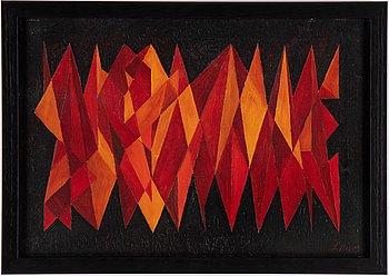 Leida Rives-Elfvén, oil on canvas, signed.