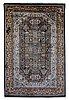A carpet, oriental silk, ca 271 x 180 cm.
