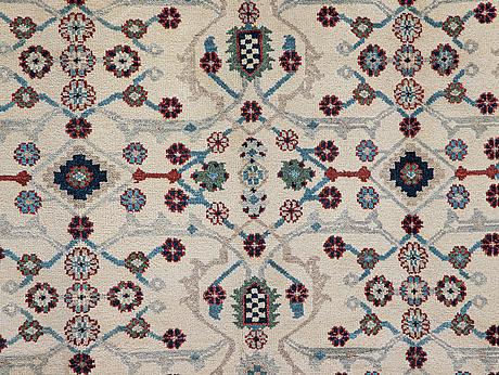 A carpet,  mamluk design, ca 309 x 239 cm.