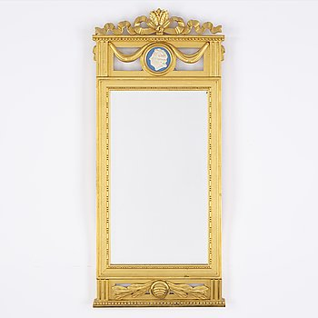 A 20th Century Gustavian style mirror.