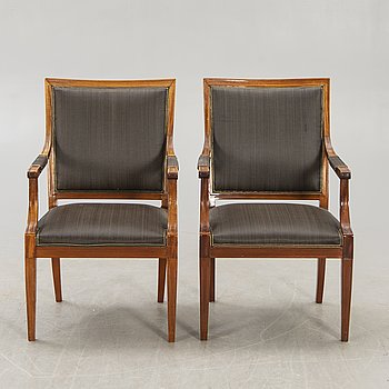 Armchairs, 2 pcs, Gustavian style, first half of the 20th century.