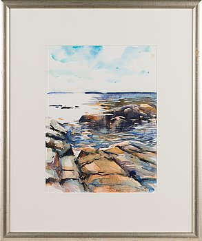 Mika Törönen, watercolour, signed and dated 2003.