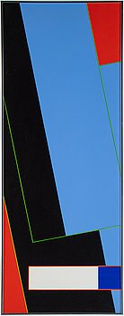 Peter Freudenthal, acrylic on canvas, signed and dated 1973 on verso.