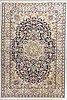 A carpet, old, nain, part silk, 9 laa, ca 308 x 197 cm.