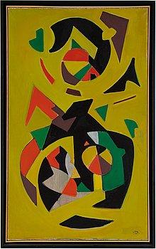 John Ivar Berg, oil on canvas, signed, executed 1950.