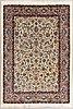 A carpet, mashad, figural, part silk, ca 359 x 250 cm.