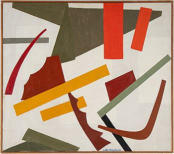 Outi Ikkala, oil on canvas, signed and dated 1959.