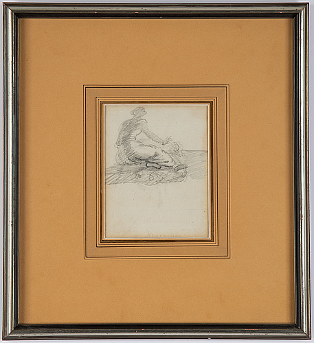 Louis masreliez, attributed to, pencil draving, inscribed masreliez.