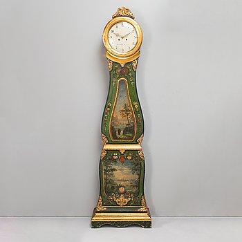 "A late 19th century Rococo style longcase clock, clockface marked ""Jacob Kock Stockholm""."