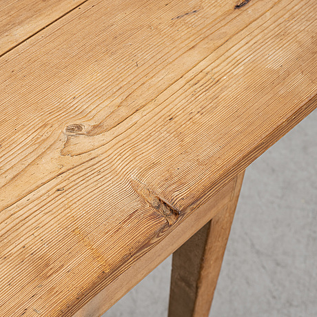 A swedish pine table, mid or later half of the 19th century,