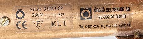 A jonas bohlin star 3 copper ceiling pendant örsjö belysning.