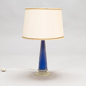 Archimede Seguso, An Italian table lamp in glass from Murano, mid-20th century.