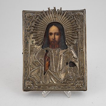 Icon with ochlad, Russia, 19/20th Century, tempera on panel.