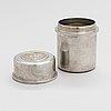 Estrid ericson, a lidded pewter jar from svenskt tenn, stockholm, 1960.