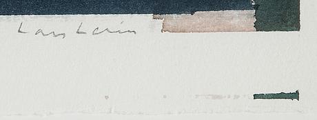 Lars lerin, watercolour, signed.