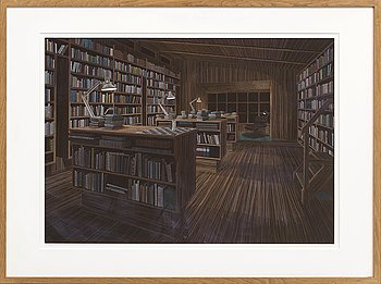 Thomas Broomé, pigmented paper, signed, dated 2012.
