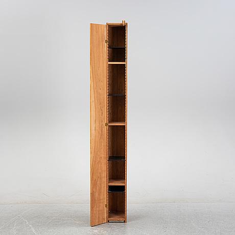 A 'solitär' mahogany cabinet by john kandell for källemo, designed 1981.