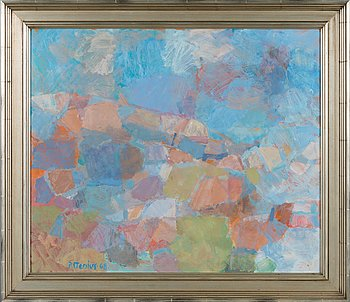 Per Stenius, oil on board, signed and dated -68.