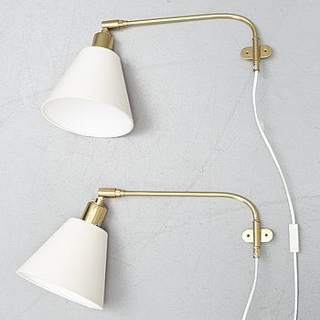 Josef Frank, a pair of wall lamps, model '2226', Firma Svenskt Tenn.