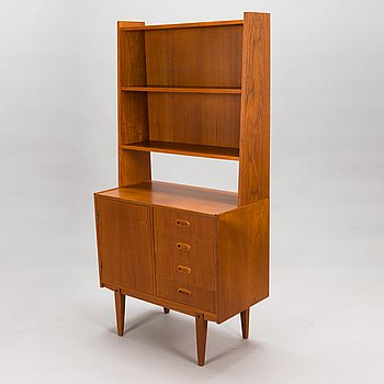 A mid-20th century bookshelf.
