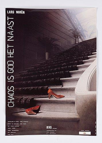 Theater posters, 3 pcs, lars norén.