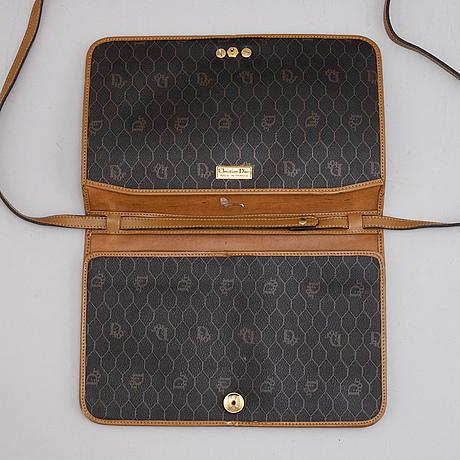 Christian dior, a canvas handbag.