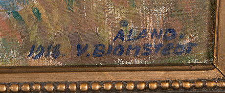Väinö blomstedt, oil on canvas, signed and dated 1918.