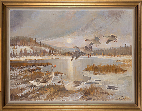 Ejnar kohlmann, oil on canvas, signed and dated 1948.