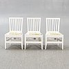 A set of six chairs around 1900.