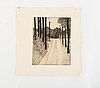 Unknown artist, two etchings, numered 7/25 et and et 8/20, signed henrik krogh and dated 85.