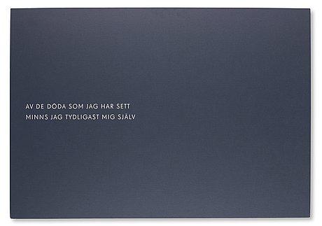 "Poster, lars norén, ""fragment"", designed by nina ulmaja, for stockholm literature, moderna museet, 2013."