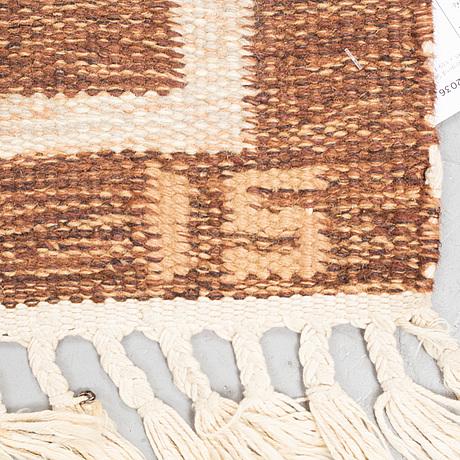Ingegerd silow, a carpet, flat weave, ca 198 x 139-141,5 cm, signed is.