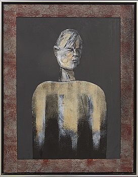 Uno Svensson, oil on panel, signed, dated -87.