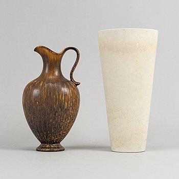 Gunnar Nylund, a set of two stoneware vases, Rörstrand.