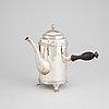 A late-gustavian silver coffeepot by johan petter ernander, uppsala, sweden, 1823.