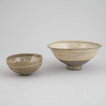 Two ceramic bowls, Korea, Goryo/Koryo (918-1392).