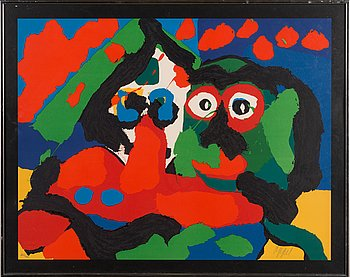 Karel Appel, lithograph in colours, signed and numbered 46/100.