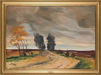 Axel Lind, öljy kankaalle, signeerattu.