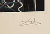 Salvador dalí, drypointetching and collotpye, signed and numbered f 32/175.