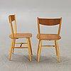Ilmari tapiovaara, a pair of teak chairs mid 1900s.