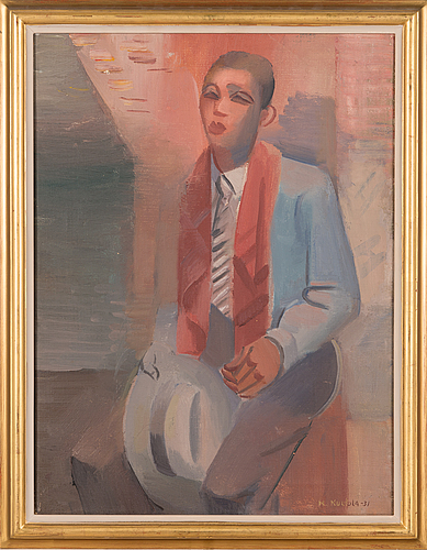 Kalle kuutola, oil on canvas, signed and dated-31.