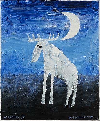 Carl johan de geer, acrylic on canvas, signed.
