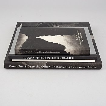 Lennart Olson, 3 books and 3 catalogues.