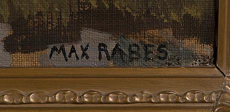 Max rabes, olja på duk, signerad.