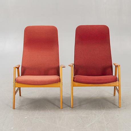 "Alf svensson, armchairs, a pair, ""contour-set 327"", bra bohag, ljungs industrier ab."