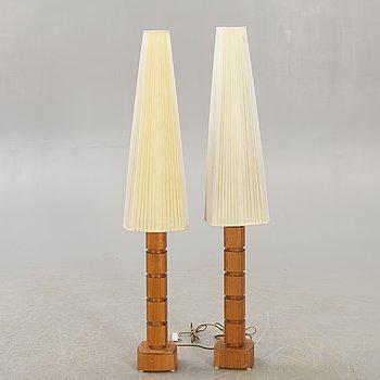 Golvlampor, ett par, Stilarmatur Tranås, 1960-tal.