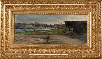 Victor Westerholm, öljy levylle, signeerattu ja päivätty 1879.